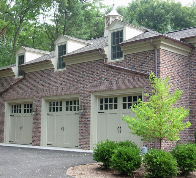 Georgian inspired garage and canopy additions