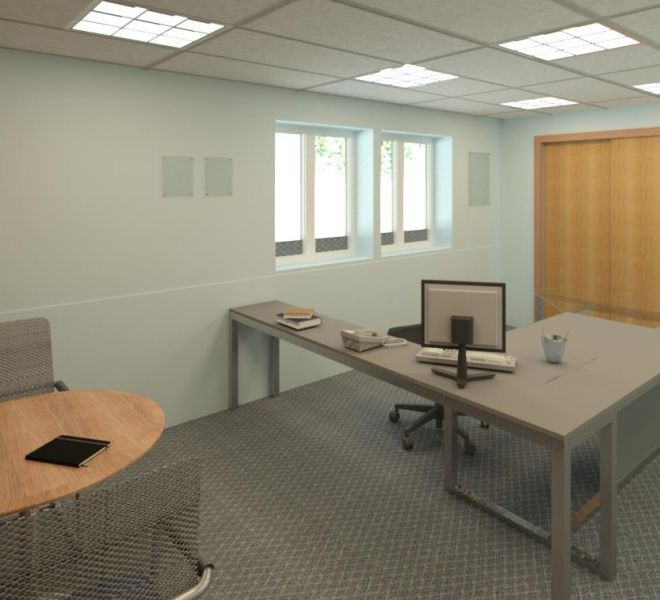 interior of nice new office space