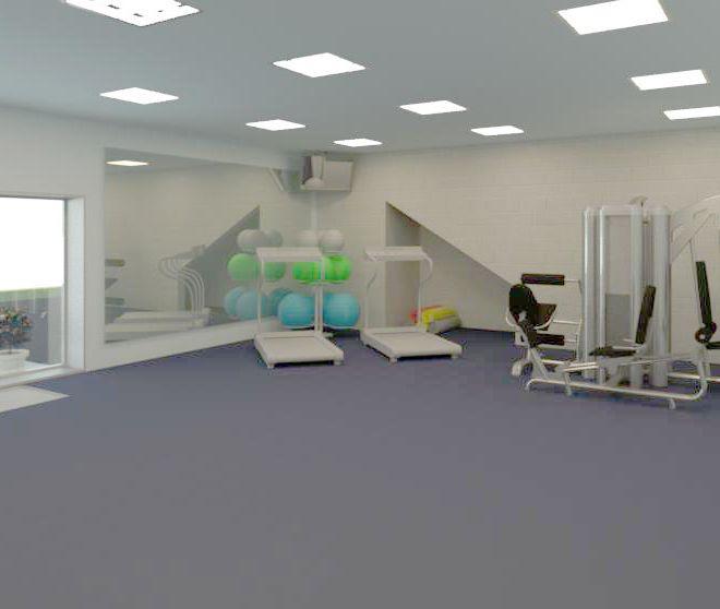 Interior of training room