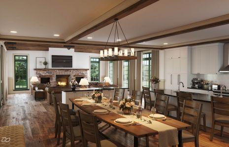 Custom farmhouse addition and renovation